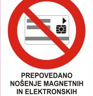 Prepovedano nošenje magnetnih in elektronskih kartic 1