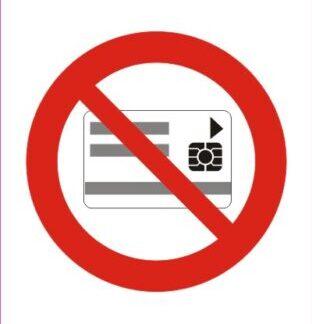 Prepovedano nošenje magnetnih in elektronskih kartic
