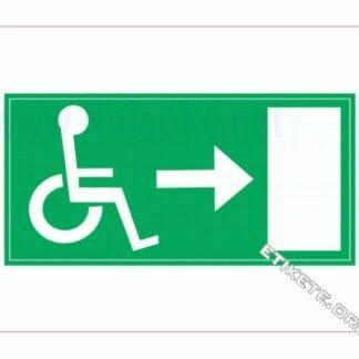 Evakuacija invalidi desno