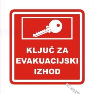 Ključ za evakuacijski izhod