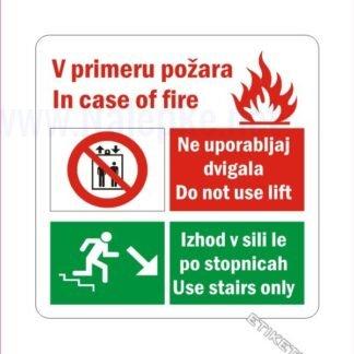 Prepovedana uporaba dvigala v primeru požara