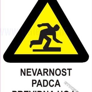 Nevarnost padca previdna hoja 1