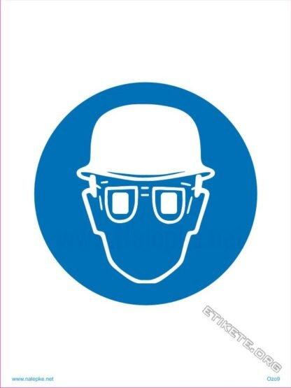 Obvezna uporaba čelade in očal