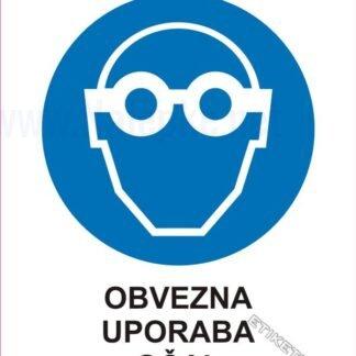 Obvezna uporaba očal 1