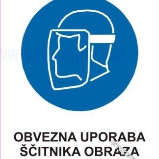Obvezna uporaba ščitnika obraza 1