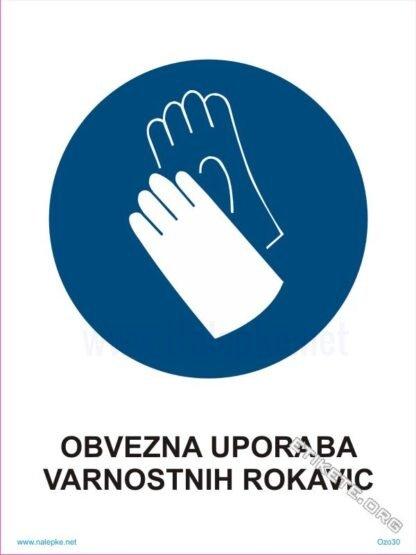 Obvezna uporaba varnostnih rokavic 1