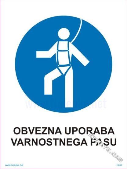 Obvezna uporaba varnostnega pasu 1