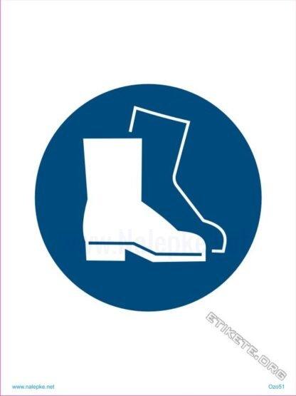 Obvezna uporaba varovalnih čevljev