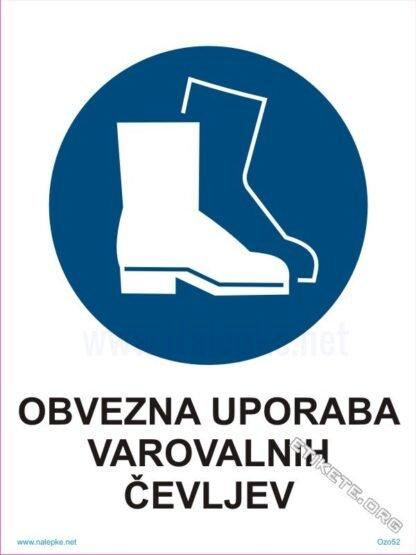 Obvezna uporaba varovalnih čevljev1