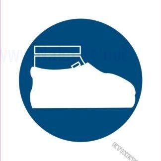 Obvezna uporaba zaščite za obuvala
