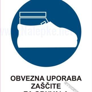 Obvezna uporaba zaščite za obuvala1