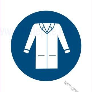 Obvezna uporaba zaščitne delovne halje