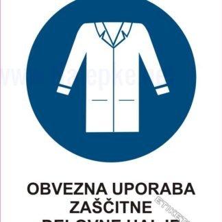 Obvezna uporaba zaščitne delovne halje1