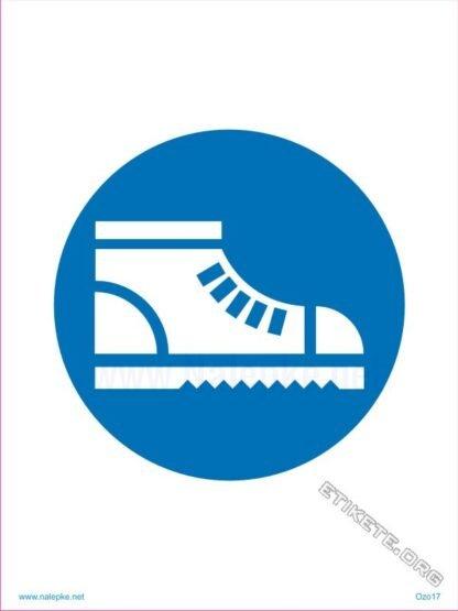 Obvezna uporaba zaščitnih čevljev