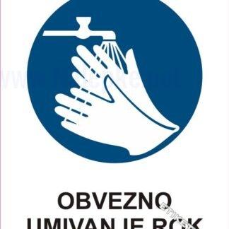 Obvezno umivanje rok 1