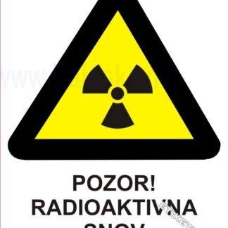 Pozor! Radioaktivna snov 1