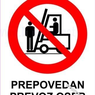 Prepovedan prevoz oseb 1
