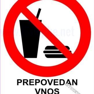 Prepovedan vnos hrane in pijače 1