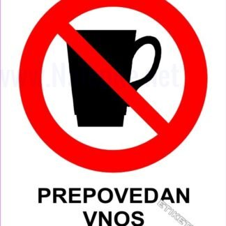 Prepovedan vnos pijače 1