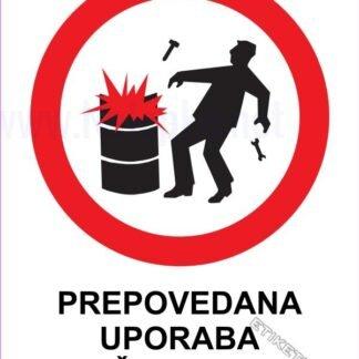 Prepovedana uporaba iskrečega orodja 1