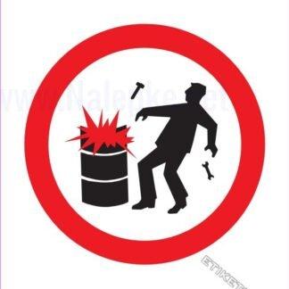 Prepovedana uporaba iskrečega orodja