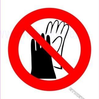 Prepovedana uporaba rokavic