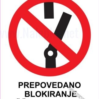 Prepovedano blokiranje zaščitnega stikala 1