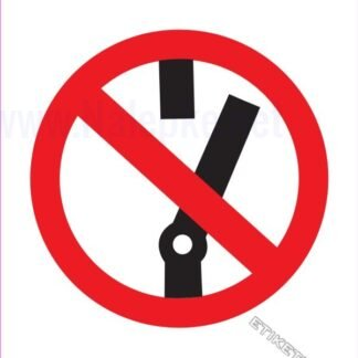 Prepovedano blokiranje zaščitnega stikala