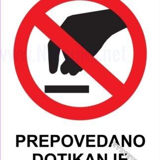 Prepovedano dotikanje 1