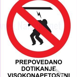 Prepovedano dotikanje visokonapetostni kabel 1