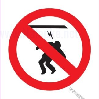 Prepovedano dotikanje visokonapetostni kabel
