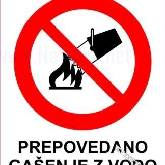 Prepovedano gašenje z vodo 1