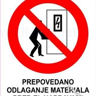 Prepovedano odlaganje materiala pred el.napravami 1
