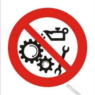 Prepovedano vzdrževanje med obratovanjem naprave