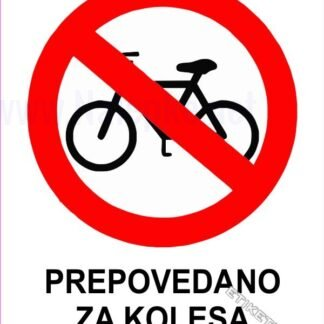 Prepovedano za kolesa 1