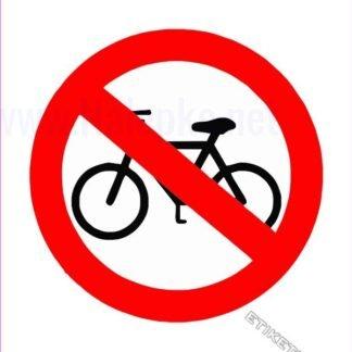 Prepovedano za kolesa