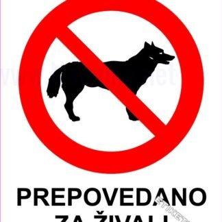 Prepovedano za živali