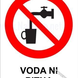 Nalepka voda ni pitna
