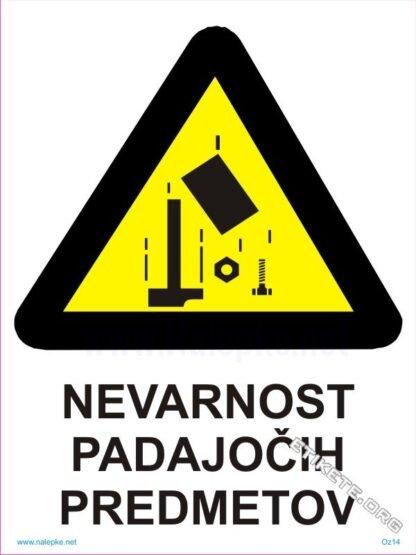 Nevarnost padajočih predmetov