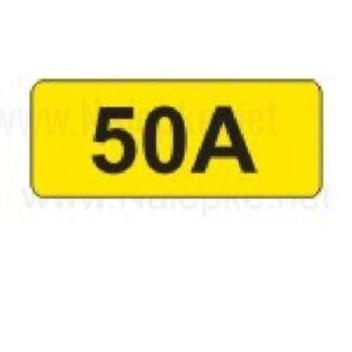 nalepka 50A, 16x11mm, pola:40 kos