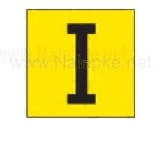 nalepka I, 16 x 16 mm, pola: 14 nalepk