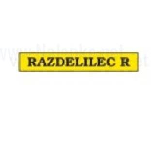 Nalepka Razdelilec R, dimenzija: 71x16mm, pola: 10 kos