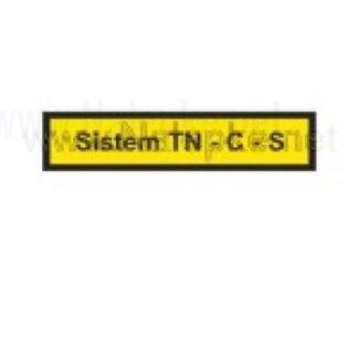 Nalepka Sistem TN C S, dimenzija: 71x16mm, pola: 10 kos