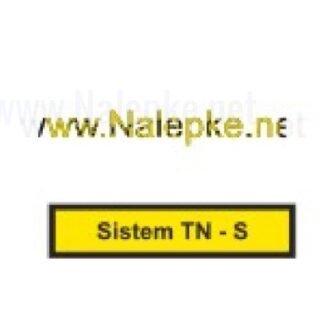 Nalepka Sistem TN S, dimenzija: 71x16mm, pola: 10 kos