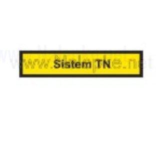Nalepka Sistem TN, dimenzija: 71x16mm, pola: 10 kos