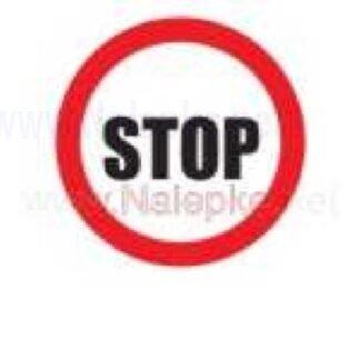 Nalepka Stop premer 36mm, pola: 4 nalepk