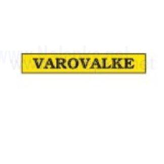 Nalepka Varovalke, dimenzija: 71x16mm, pola: 10 kos