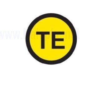 Zbiralke Brezšumna ozemljitev TE, premer 16mm, pola: 20 nalepk