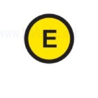 Zbiralke Ozemljitev E, premer 16mm, pola: 20 nalepk