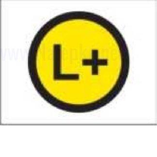 Zbiralke Pozitivni vodnik L +, premer 16mm, pola: 20 nalepk